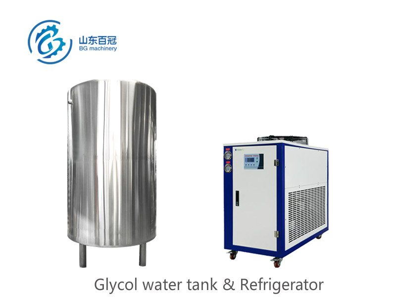Refrigerator and glycol water tank