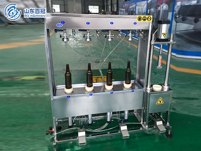 Semi-automatic-bottle-filling-capping-machine,small beer filling machine ,beer bottling machine,beer filler